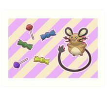 Dedenne's Candy Time! Art Print