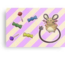 Dedenne's Candy Time! Metal Print