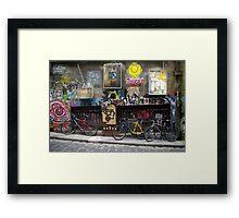 Melbourne grafitti Framed Print
