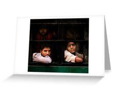 Indian Bus Trip (Dehli, India) Greeting Card
