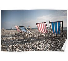 Beer Beach Devon Poster