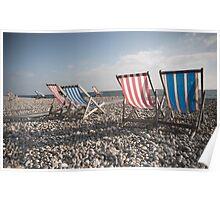 Beer Beach Devon Poster