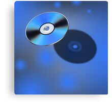 DVD Disk in 3D view Canvas Print