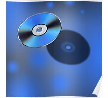DVD Disk in 3D view Poster