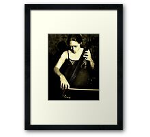Beautiful Cellist Framed Print