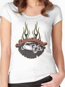 SatansBrand Motorsport Women's Fitted Scoop T-Shirt