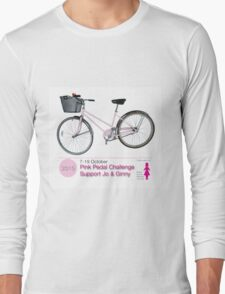 Pink Pedal Challenge 2015 - Support Jo and Ginny Long Sleeve T-Shirt
