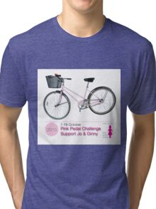Pink Pedal Challenge 2015 - Support Jo and Ginny Tri-blend T-Shirt