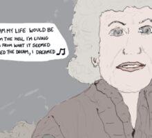 Les Misérables + When Harry Met Sally Sticker
