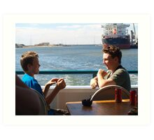 mates at sea Art Print