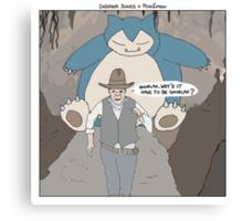 Indiana Jones + Pokémon Canvas Print
