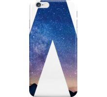 The Letter W - night sky iPhone Case/Skin