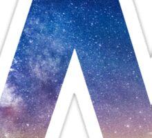 The Letter W - night sky Sticker