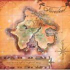 Neverland Map Blanket Full Color King Size by Sophersgreen
