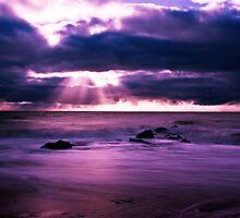 Stormy Sunset at Glenelg, SA by Jackie Ngo