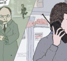 Seinfeld + The Matrix Sticker