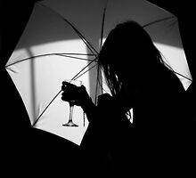Umbrella Silhouette by shall