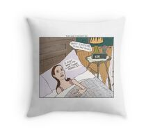 Groundhog Day + Black Swan Throw Pillow