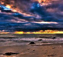 Stormy Sunset at Glenelg, SA 2 by Jackie Ngo