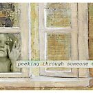 """Peeking Through Someone Else's Window"" exhibition invite by Julia  Thomas"