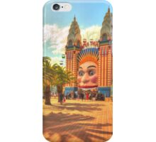 Luna Park with palms iPhone Case/Skin