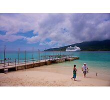 Radiance of the Seas, Mystery Island A Photographic Print