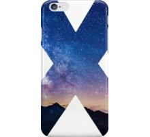 The Letter X - night sky iPhone Case/Skin