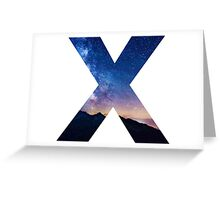 The Letter X - night sky Greeting Card