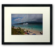 Radiance of the Seas, Mystery Island B Framed Print