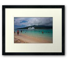Radiance of the Seas, Mystery Island C Framed Print