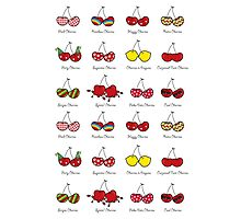 Oh My Cheeky Cherries! Photographic Print