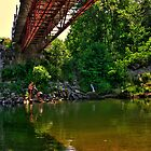 The Tire Swing at the Trestle by Wayne King