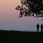Sunset at Old Sarum Castle, Salisbury Wiltshire by naffarts