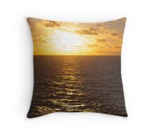 Sunset over the South Pacific Throw Pillow