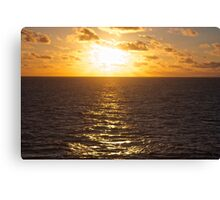 Sunset over the South Pacific Canvas Print