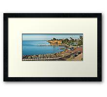 Beaumaris Bay Panorama 2 Framed Print