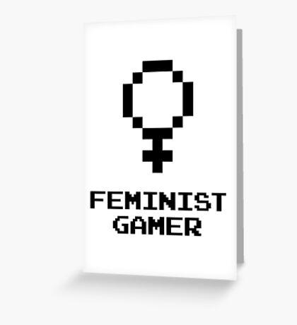 Feminist Gamer Greeting Card