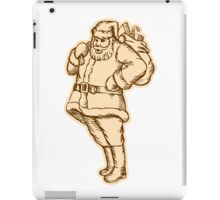 Santa Claus Father Christmas Standing Etching iPad Case/Skin