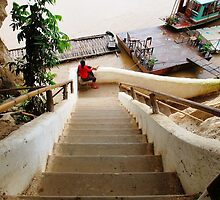 Stairs to the River  by Ethna Gillespie