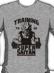 Training To Go Saiyan - Black Edition T-Shirt