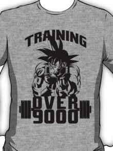 Training Goku - Over 9000 Black Edition T-Shirt