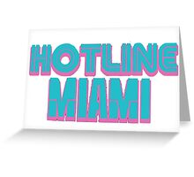 Hotline Miami  Greeting Card