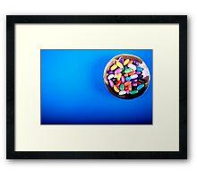 Blue beans Framed Print