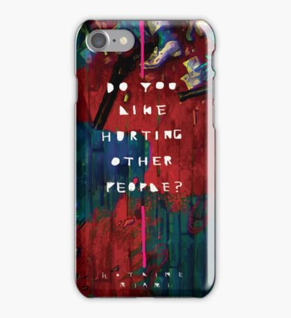 Hotline Miami Artwork iPhone Case/Skin