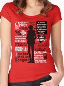 Orihara Izaya Quotes Women's Fitted Scoop T-Shirt