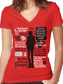 Orihara Izaya Quotes Women's Fitted V-Neck T-Shirt