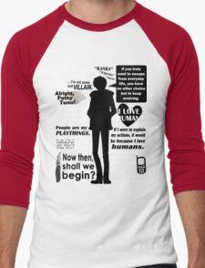 Orihara Izaya Quotes Men's Baseball ¾ T-Shirt