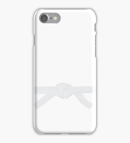 Judo White Belt iPhone Case/Skin