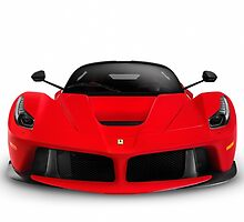 Ferrari F150 LaFerrari supercar sports car front view art photo print by ArtNudePhotos