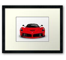 Ferrari F150 LaFerrari supercar sports car front view art photo print Framed Print